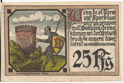 25 Pfennig (Plau) – reverse