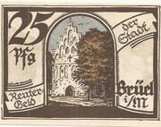 25 Pfennig (Brüel) – obverse