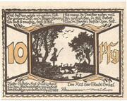 10 Pfennig (Brüel) – reverse