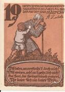 10 Pfennig (Malchow) – reverse