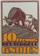 10 Pfennig (Gnoien) – obverse