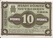 10 Pfennig (Dömitz; Sparkasse) – obverse