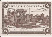 10 Pfennig (Dömitz; Sparkasse) – reverse
