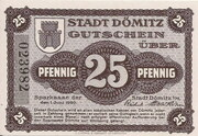 25 Pfennig (Dömitz; Sparkasse) – obverse