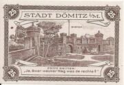 25 Pfennig (Dömitz; Sparkasse) – reverse