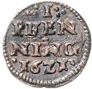 1 Pfennig - Johann Albrecht II. – reverse