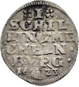 1 Schilling - Johann Albrecht II. – reverse