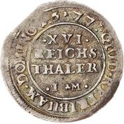 1/16 Thaler - Gustav Adolf (Düttchen) – reverse