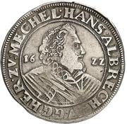 1 Thaler -  Johann Albrecht II. – obverse