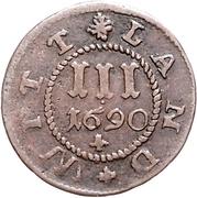 3 Pfennig - Gustav Adolph – reverse