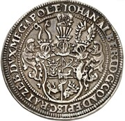 1 Thaler - Johann Albrecht II. (Death of Margaretha Elisabeth) – obverse