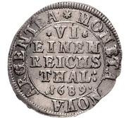 ⅙ Thaler - Gustav Adolf – reverse