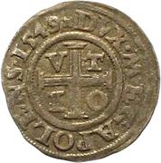1 Dreiling - Johann Albrecht I. – reverse