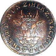 3 Pfenninge - Christian Ludwig II – obverse