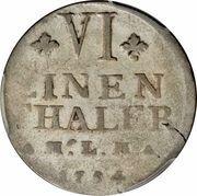 ⅙ Thaler - Christian Ludwig II – reverse