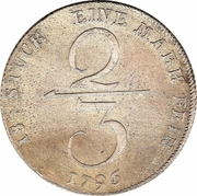 ⅔ Thaler - Friedrich Franz I – reverse