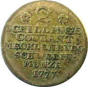 2 Schilling Courant - Friedrich II – reverse