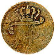 6 Pfennig - Friedrich II. – obverse