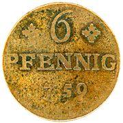 6 Pfennig - Friedrich II. – reverse