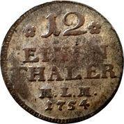 1/12 Thaler - Christian Ludwig II. (Landmünze) – reverse