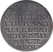 1 Schilling Courant - Friedrich Franz I – reverse