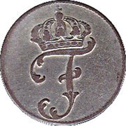 1 Schilling Courant - Friedrich II – obverse