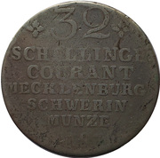 32 Schilling - Friedrich Franz I. – reverse