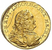 ¼ Ducat - Christian Ludwig II. – obverse