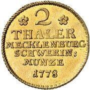 2 Thaler - Friedrich II – reverse