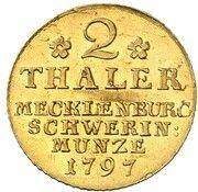 2 Thaler - Friedrich Franz I – reverse
