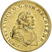 10 Thaler - Christian Ludwig II. – obverse