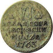 6 Pfennig - Friedrich II – reverse