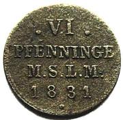 6 Pfennig - Friedrich Franz I – reverse