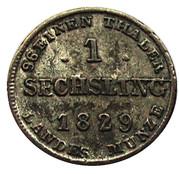 1 Sechsling - Friedrich Franz I. – reverse