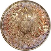 2 Mark - Friedrich Franz IV. – reverse
