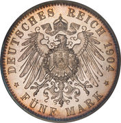 5 Mark - Friedrich Franz IV (Wedding) – reverse