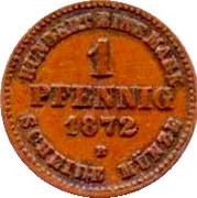 1 Pfennig - Friedrich Franz II – reverse