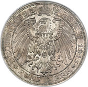 5 Mark - Friedrich Franz IV (Grand Duchy) – reverse