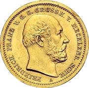 10 Mark - Friedrich Franz II – obverse