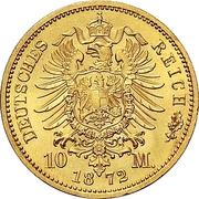 10 Mark - Friedrich Franz II – reverse