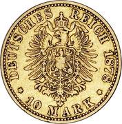 10 Mark - Friedrich Franz II -  reverse