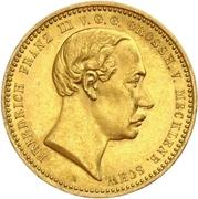10 Mark - Friedrich Franz III – obverse