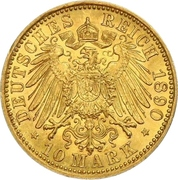 10 Mark - Friedrich Franz III. – reverse