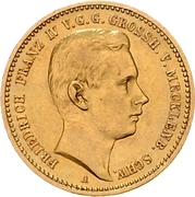 10 Mark - Friedrich Franz IV. (Coming of Age) – obverse