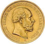 20 Mark - Friedrich Franz II. – obverse