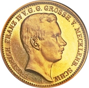 20 Mark - Friedrich Franz IV. (Coming of Age) – obverse