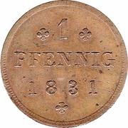 1 Pfennig - Friedrich Franz I. – reverse