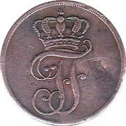 2 Pfenninge - Friedrich Franz I. – obverse