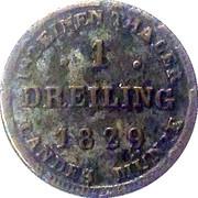1 Dreiling - Friedrich Franz I – reverse