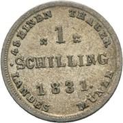1 Schilling - Friedrich Franz I – reverse
